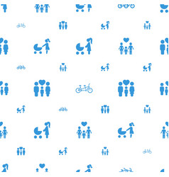 daughter icons pattern seamless white background vector image