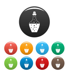 drink potion icons set color vector image