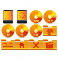 DVD icons vector