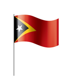 east timor flag on a white vector image