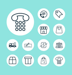 Ecommerce icons set collection of price stamp vector
