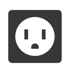 Electrical outlet isolated icon design vector