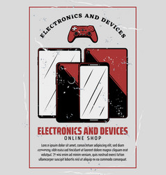 electronic device poster of digital technology vector image