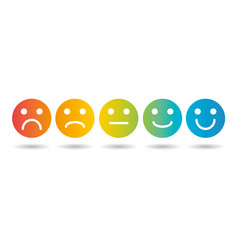 emoji colored flat scale icons set vector image