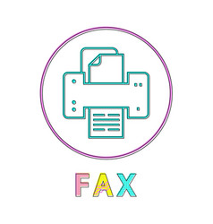 fax machine technology icon vector image