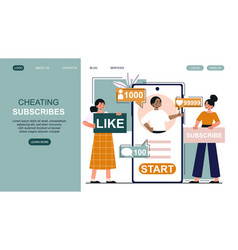 female bloggers are subscribers count cheating vector image