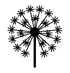 Field dandelion icon simple style vector