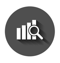 Financial forecast icon in flat style business vector