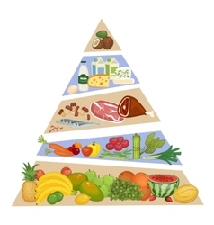 Food Pyramid Concept in Flat Design vector