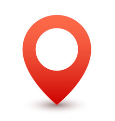 gps red pin map marker or travel symbol vector image