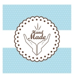 Hand Made label handmade crafts workshop vector