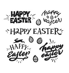 happy easter premium handdrawn lettering vector image