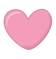 Heart icon cartoon vector