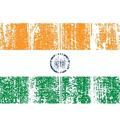 Indian grunge flag vector