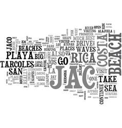Jaco beach text background word cloud concept vector