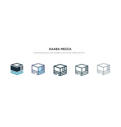 Kaaba mecca icon in different style two colored vector