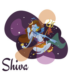 lord shiva indian god in lotus position and vector image