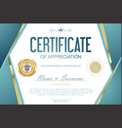 Luxury certificate or diploma template 4 vector