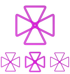 Magenta line loop logo design set vector