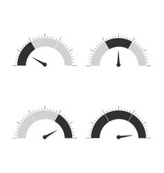 meter icons set speedometer display power vector image