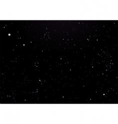 night sky dark with stars vector image