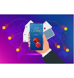 online poker casino online casino concept online vector image