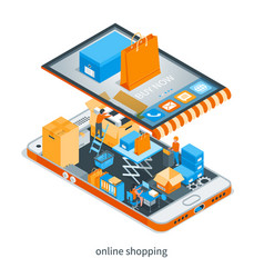 online shopping concept 01 vector image