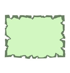 Parchment old paper Empty banner green vector