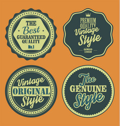 pastel color vintage labels collection 7 vector image