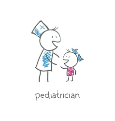 pediatrician with child vector image