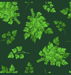 realistic detailed 3d green raw parsley seamless vector image