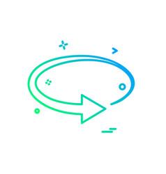 refresh icon design vector image