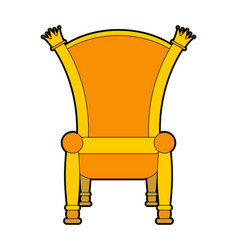 royal throne isolated gold regal chair vector image