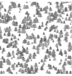 seamless chaotic winter holiday background - grey vector image