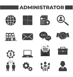 Set 16 administrator icons vector