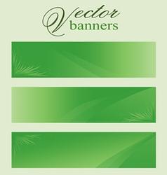 Set of green banners headers eco bio vector