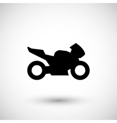 Sport motorcycle icon vector
