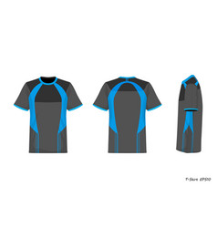 sport shirt front back side view isolated on vector image