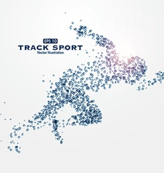 Sports Graphics particles vector image