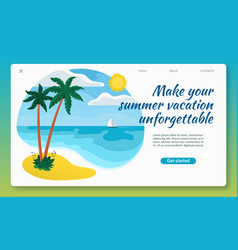summer vacation concept flat design vector image