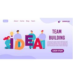 Teambuilding employee engaged bright idea vector
