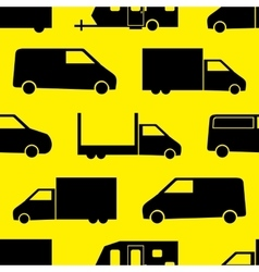 Truck seamless pattern vector image