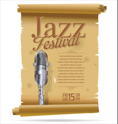vintage jazz festival banner collection vector image