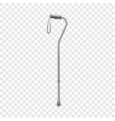 Walking stick icon realistic style vector