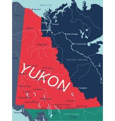 Yukon territory editable map canada vector