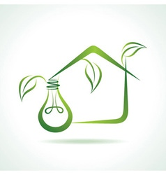 abstract eco-home with bulb vector image
