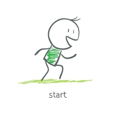 Athlete is at the start vector