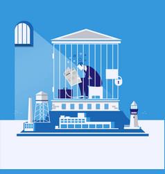 business bankruptcy debts concept vector image vector image