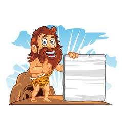 Cave Man Sign vector image vector image