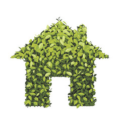 green economy house icon isolated on white vector image
